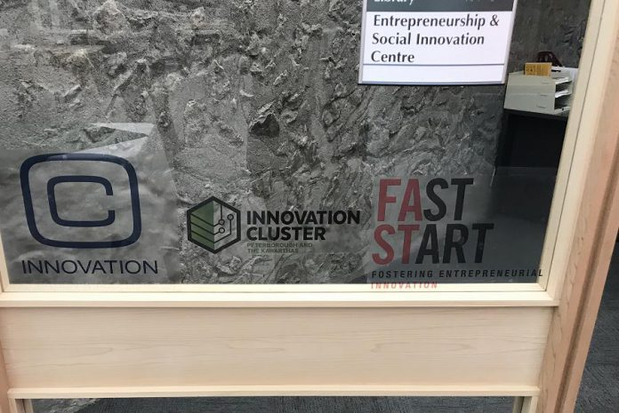 The Entrepreneurship and Social Innovation Centre in Bata Library at Trent University. (Photo courtesy of Innovation Cluster)