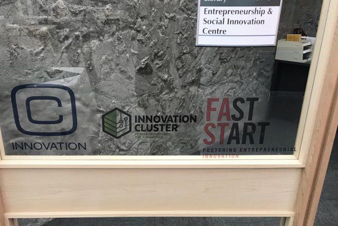 The Entrepreneurship and Social Innovation Centre in Bata Library at Trent University. (Photo courtesy of Innovation Cluster)