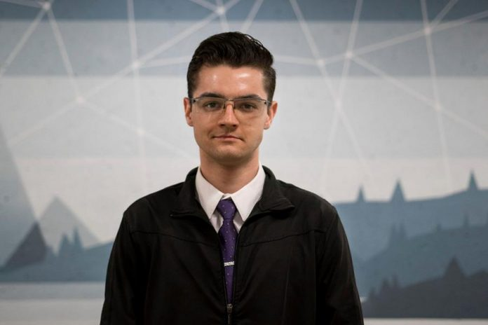 "Dylan Trepanier of Alexander Optical, which could be described as ""Uber for optometrists"", is one of the five finalists who will be competing in the Cubs' Lair youth entrepreneurial competition on November 22, 2018 at the Gordon Best in downtown Peterborough. (Photo: Alexander Optical)"