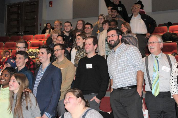 Participants and judges at the  Pitch It! entrepreneurial competition held November 15, 2018 at Fleming College in Peterborough.  (Photo courtesy of Innovation Cluster)