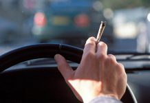Driving while smoking a cannabis joint