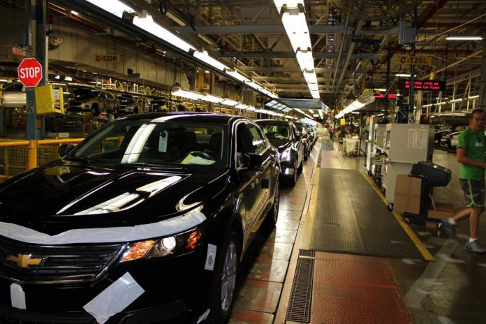 General Motors' Oshawa assembly plant assembles the Chevrolet Impala, Buick Regal, Cadillac XTS, and Chevrolet Equinox, and completes final assembly work on Chevrolet Silverado and GMC Sierra trucks. (Photo: GM)