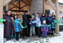 The official ribbon cutting of the new Ecology Park Children's Education Shelter on November 20, 2018. GreenUP will use donations received this holiday season to enhance the open-air classroom in the shelter by replacing the woodchip surface instead the shelter with permeable accessible flooring that will enable the space to be used by all persons. Other areas of Ecology Park that are to be made accessible include parking, the washroom, pathways, and more. (Photo: GreenUP)