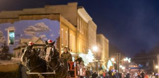 Millbrook's Christmas In The Village, on the evening of Thursday, December 6, 2018, offers festive activities for the entire family, including the popular horse-drawn wagon rides through the downtown of the picturesque village. (Photo: Marjorie McDonald)