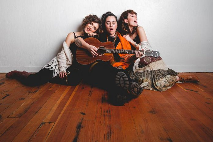 Formed in Australia and based in Victoria BC, folk-pop trio Belle Miners (Felicia Harding, Marina Avros, and Jaime Jackett) perform at the Gordon Best Theatre in downtown Peterborough on Saturday, November 10, 2018 with Melody Ryan and Blue Hazel. (Publicity photo)