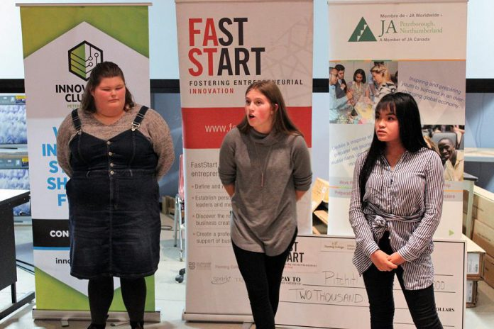 For the first time this year, local high school students had a chance to pitch their business idea to the panel of judges. (Photo courtesy of Innovation Cluster)