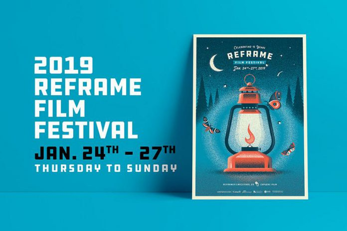 A new leadership team and a newly redesigned website are some of the changes for the 15th annual ReFrame documentary film festival, running  January 24 to 27, 2019 at multiple venues in downtown Peterborough. (Graphic: ReFrame Film Festival)
