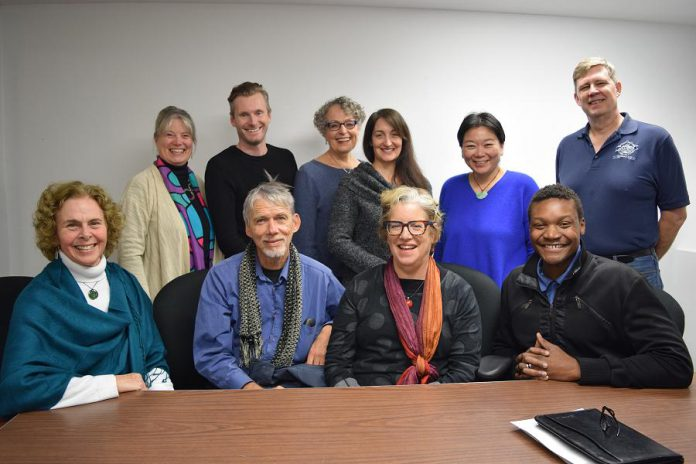 The Board of Directors of the ReFrame Film Festival (left to right, front to back): Deborah Berrill. Richard Peachey, Carolyn Kay (secretary), Mbo Mtetwa (vice chair), Susan Bacque (Chair, Strategic Planning Working Group), Jordan Bowden, Julia Harrison (Chair), An Kosurko, Shaoling Wang, and Glen Jones (incoming Treasurer, February 2019). Not pictured: current Treasurer Grant Conrad. (Supplied photo)