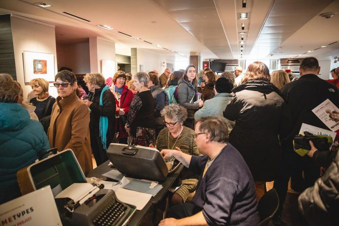 """""""ReFrame Types: A Community Art Project"""" was one of the special events at the 2018 ReFrame Film Festival. The 15-year anniversary celebration of the 2019 festival will feature some post-film events as well as experiential exhibits. (Photo: Bryan Reid)"""