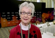 Peterborough activist, feminist, and writer Rosemary Ganley (pictured at a meeting of the G7 council on issues of gender equality in June 2018) will receive the 2018 YMCA Peace Medal. (Photo: Global Affairs Canada)