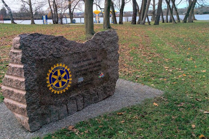 Last year's Kawartha Rotary Christmas Auction raised $25,000 for the construction of the Rotary Outdoor Gym at Beavermead Park, a gift from the Rotary Club of Peterborough Kawartha and the Peterborough Rotary Club with support from the City of Peterborough. (Photo: Bruce Head / kawarthaNOW.com)