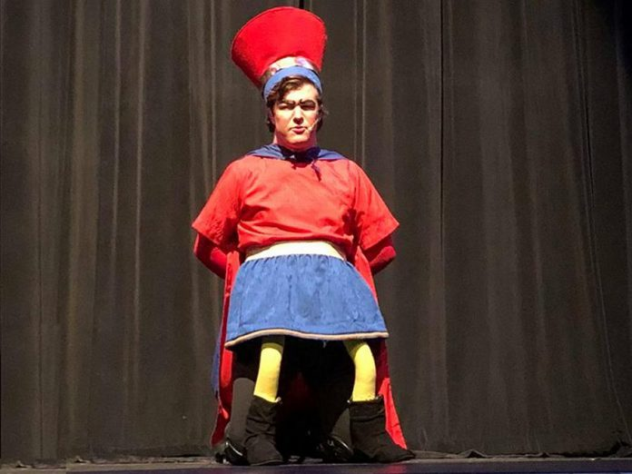 Taylor Beatty as the scene-stealing and vertically impaired Lord Farquaad.  (Photo: Avery Cantello)