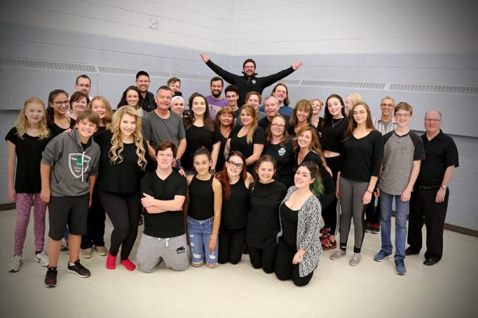 """The cast and crew of """"Shrek: The Musical"""". (Photo: Nate Axcell)"""