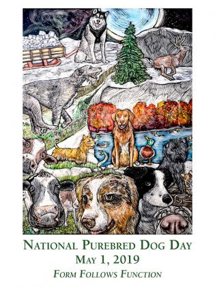 "Peterborough artist Lisa Martini-Dunk's ""Unlimited"" is the official poster for National Purebred Dog Day 2019. Copies of the poster are available to order online. (Photo: National Purebred Dog Day)"