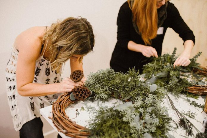 "Create a glorious winter wreath using only nature's finest ingredients with Natalie Raponi of Heck Yes! at the ""All Natural Winter Wreaths"" workshop, one of sevearl workshops happening in November and December.  (Photo: Watson & Lou)"