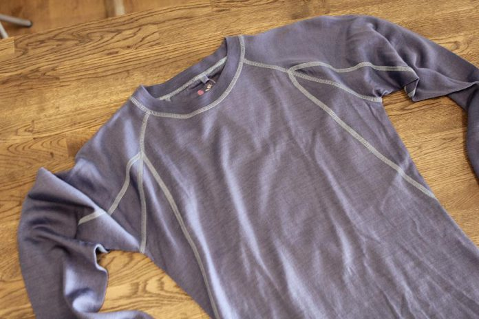 Dressing in layers, including a base layer like this thin merino wool undershirt, will give you lots of options as the day progresses. (Photo: EnviroCentre)