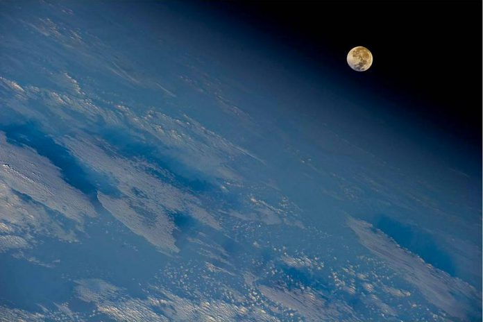 A full moon over Earth photographed by astronaut Ron Garan from the International Space Station. A December full moon is called the Cold Moon, the Long Night Moon, and The Moon Before Yule. In 2018, it coincides with the winter solstice, peaking on December 22. (Photo: NASA)