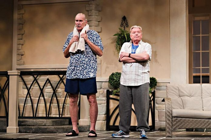 "Norm Foster as Jonas Ainsworth and David Nairn as Barry Butterfield in ""Jonas and Barry in the Home, at its debut in 2015 at Theatre Orangeville. (Photo: Drayton Entertainment)"