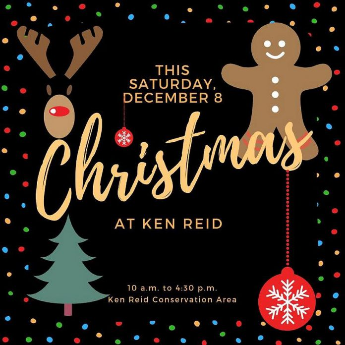 """Christmas at Ken Reid"" is  a free family event from 10 a.m. to 4:30 p.m. on Saturday, December 8, 2018. (Graphic: Kawartha Conservation)"