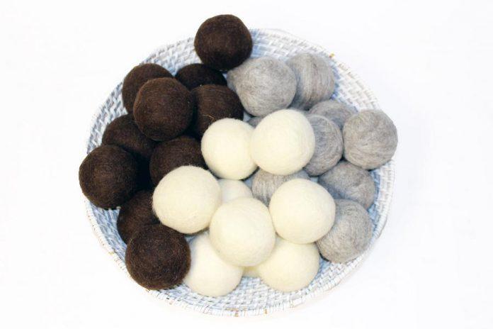Wool dryer balls from Moss Creek Wool Works.