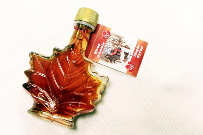 Golden Treasures maple syrup.