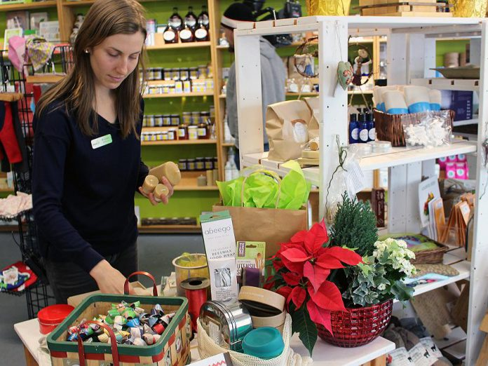 The GreenUP Store is hosting an open house and wrapping party on Saturday, December 8th which will showcase natural, environmentally friendly wrapping options and provide samples, demos, and ideas to wrap your gifts the green way this holiday season. (Photo: GreenUP)