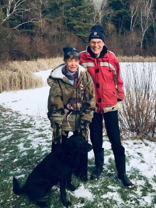 Mary and Bob Hartley have owned the Pine Ridge property for the past 37 years, and decided to entered into a conservation easement agreement with Kawartha Land Trust to prevent the property from being developed in the future. (Photo courtesy of Kawartha Land Trust)