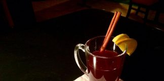 The Sapphire Room's berry mulled wine sits for 10 days with fruit and liqueurs. When it's prepared, the whole bar smells like strawberries and cinnamon. Discover this and more seasonal favourites in this month's Knosh News. (Photo: Eva Fisher / kawarthaNOW.com)