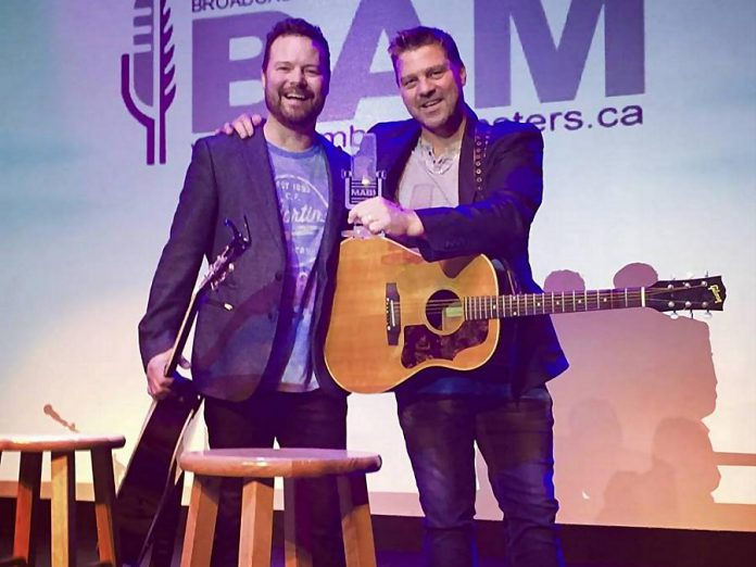 In September 2018, Dave Wasyliw and Chris Thorsteinson of Doc Walker were inducted into the Broadcasters Association of Manitoba's Music Hall of Fame, created to recognize successful artists who have roots in Manitoba. (Photo: Doc Walker)