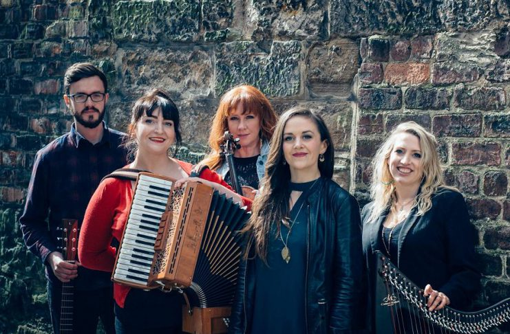 Market Hall Performing Arts Centre in downtown Peterborough is presenting eight concerts in early 2019, including thes Celtic super group The Outside Track (Michael Ferrie, Fiona Black, Teresa Horgan, Mairi Rankin, and Ailie Robertson), who will perform on February 27, 2019, with Peterborough singer-songwriter Melissa Payne opening. (Publicity photo)