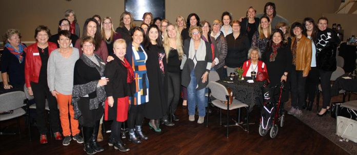 Minister for Women and Gender Equality Maryam Monsef and  Minister of Small Business and Export Promotion Mary Ng with attendees at the December 19, 2018 town hall discussion on government supports available to women entrepreneurs across Canada. The meeting included representatives from the Women's Business Network of Peterborough, the Greater Peterborough Chamber of Commerce, Community Futures Peterborough, and the Workforce Development Board. (Photo: Office of Maryam Monsef)