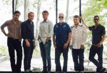 Canada's legendary alt-country rockers Blue Rodeo (Mike Boguski, Colin Cripps, Jim Cuddy, Greg Keelor, Bazil Donovan, and Glenn Milchem) are performing a benefit concert for local health care at the Peterborough Memorial Centre on December 28, 2018. (Photo: Dustin Rabin)