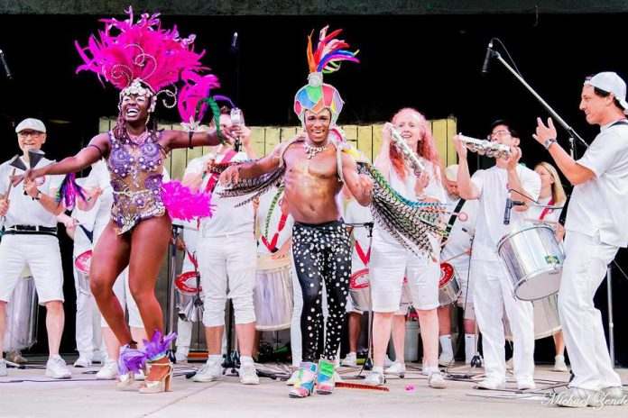 Celebrate New Year's Eve at The Venue in downtown Peterborough in Brazilian Carnival style, with a celebration featuring samba drumming group A Fantástica Bateria along with contemporary Brazilian dance music from Batucatronica and DJ Rodrigo Flores. (Photo: Michael Zender)