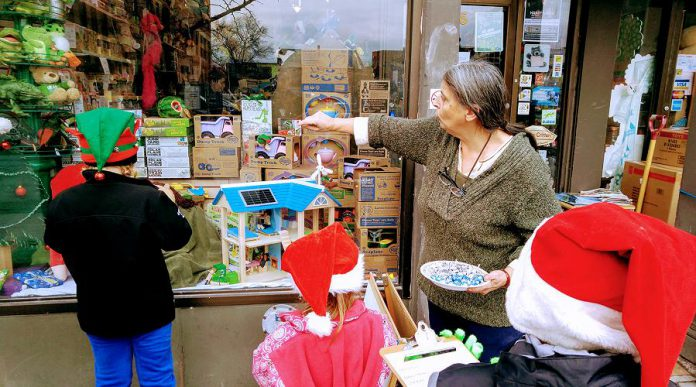 Honourable mention: The Toy Shop of Peterborough at 176 Hunter Street West.  (Photo courtesy of Peterborough DBIA)
