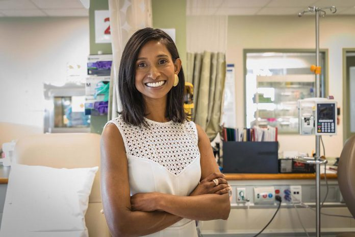 Dr. Neera Jeyabalan, PRHC Oncologist. (Photo courtesy of Heather Doughty Photography)