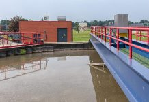 The sedimentation tank of a sewage treatment plant. (Stock photo)