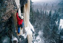 The Southern Ontario Ice Climbing Festival (SOIce Fest) takes place from February 8 to 10, 2019 in Maynooth. Festival co-founder, photographer, and passionate climber Peter Hoang took this photo of an ice climber near Huntsville. Because of the granite rock walls of the Canadian Shield found in the area, northern and central Ontario is a popular destination for ice climbers. (Photo courtesy of Peter Hoang, peter-hoang.com)