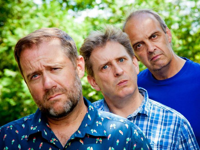 The Arrogant Worms (with current members Chris Patterson, Trevor Strong, and Mike McCormick) have been entertaining audiences for years with their parodies of musical genres and humorous on-stage banter. The trio perform at the Market Hall Performing Arts Centre in Peterborough on January 18, 2019. (Photo: Reinier deSmit)
