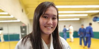 Trent University student Sarah Miller received her promotion to shodan (first degree black belt) during a ceremony at the Trent Judo Club on December 10, 2018. She is the first female at the club to obtain a black belt. (Supplied photo)