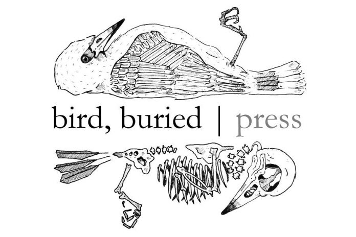 Artspace is hosting a free talk with bird, buried press's editor and designer Elisha Rubacha and poetry editor Justin Million on February 20, 2019. (Graphic: bird, buried press)