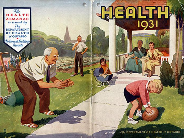 The cover of the 1931 Health Almanac from the Public Health Nursing Branch of the Department of Health of Ontario. (Photo: Archives of Ontario)