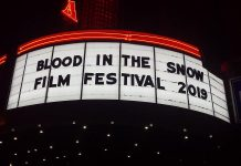 The Toronto-based Blood in the Snow horror film festival is touring four cities in southern Ontario during March 2019, beginning with a stop at Peterborough's Market Hall on March 1 and 2. The festival, which celebrates the best in contemporary Canadian horror, genre, and underground film, will be screening four feature-length films along with five short films, some of which were made by local filmmakers. (Photo courtesy of Blood in the Snow)
