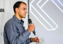 CEO Bolis Ibrahim of Argentum Electronics pitches at Venture13 in Cobourg as part of the Northumberland CFDC's 2018 N100 Evolution technology startup competition. Argentum Electronics, which develops cloud-managed smart power solutions using Power over Ethernet, has won the competition and secured an investment of $250,000 it will use to bring its products to market. (Supplied photo)