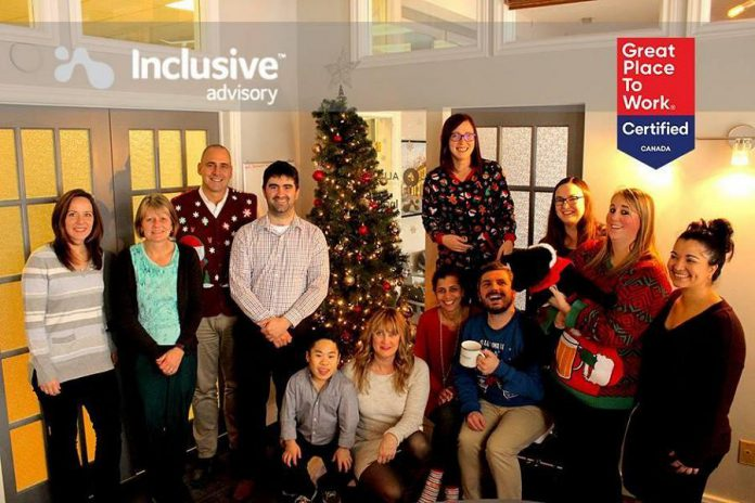 Inclusive Advisory has received certification from Great Place to Work, a global authority on high-trust and high-performing workplace cultures. (Photo courtesy of Inclusive Advisory)