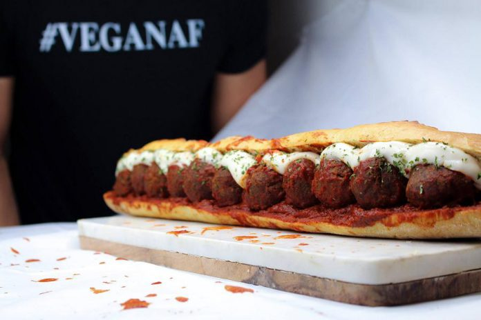 "Nateure's Plate in downtown Peterborough serves vegan comfort food like this ""meatball"" sub. (Photo: Nateure's Plate)"