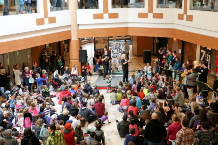 Peterborough Family Literacy Day 2017 brought hundreds of kids out to Peterborough Square where they were treated to entertainment, special performances and activities, all of which fostered a love of reading. The 2019 event will be held for the 20th year on Saturday, January 26, 9 a.m. to noon, again at the downtown mall. Admission is free and every child leaves with a book of their choosing. (Photo: Peter Rellinger)