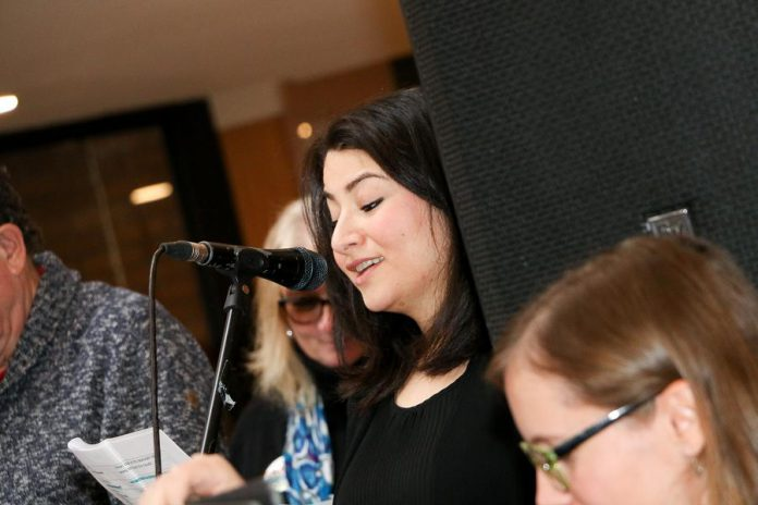 """Peterborough-Kawartha MP Maryam Monsef was a among a number of local celebrities who read Jack and the Beanstalk to children gathered for Peterborough Family Literacy Day 2017. This year's event, set for Saturday, January 26, 2019, 9 a.m. to noon, at Peterborough Square will see celebrities read """"The Grumpy Bird"""".  (Photo: Peter Rellinger)"""