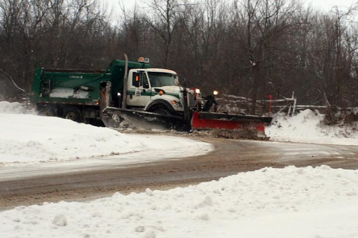 Five million tonnes of road salt is used in Canada each year to keep our roads safe during winter conditions; undoubtedly this has reduced the number of vehicle accidents, but it does come with a cost to the environment.(Photo: Karen Halley)