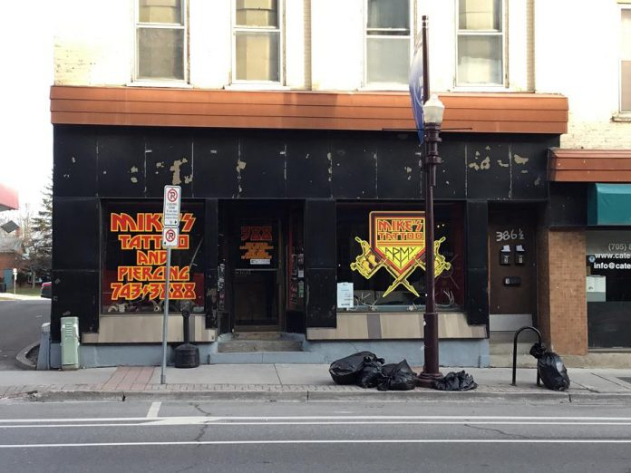 Renovations are currently underway at 388 Water Street, the location previously occupied by Mike's Tattoo & Piercings, where Catalina Motta's new business House Of Commons Vintage Market is located. (Photo courtesy of Catalina Motta)