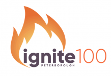 ignite100 is a new annual innovation competition from Community Futures Peterborough, where the winner will receive a repayable loan of $100,000 with no payments in the first year and no interest for the first three years. (Graphic: Community Futures Peterborough)